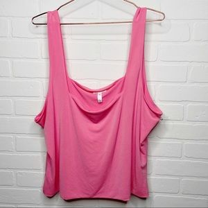 NWOT Leith pink heavy knit tank top 3X plus size